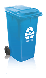 Blue Recycling Can