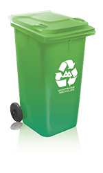 Green Recycling Can