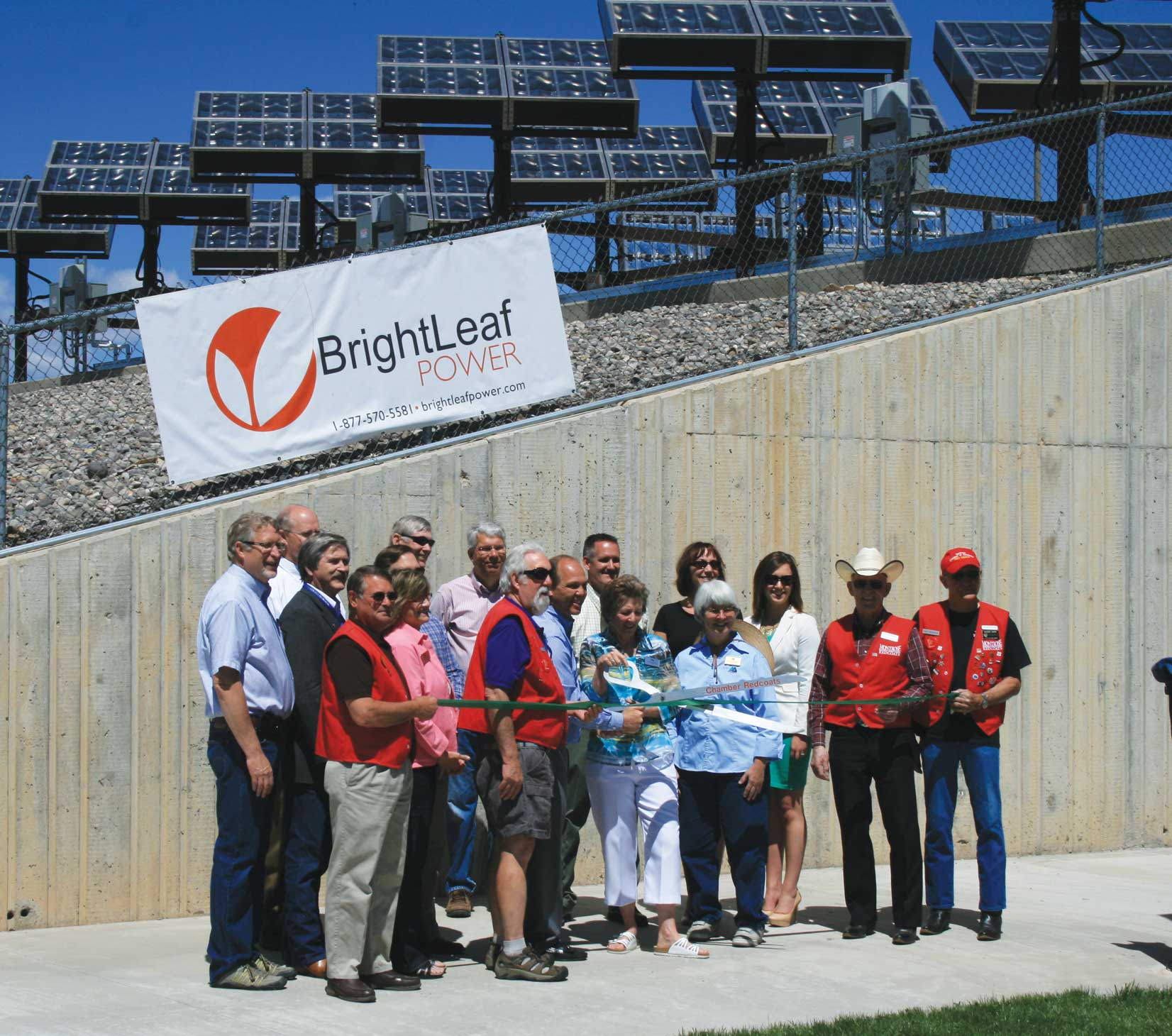Ribbon Cutting for Solar Installation at WWTP